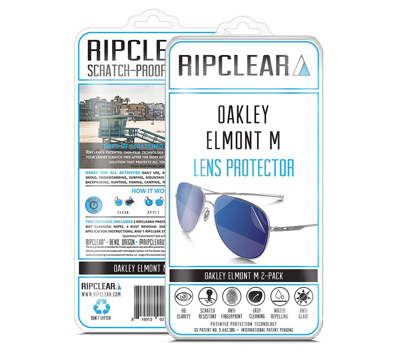 Ripclear Sunglasses Lens Protectors Clear 2 Pack For